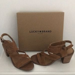 Lucky Brand block heel sandals In box 📦